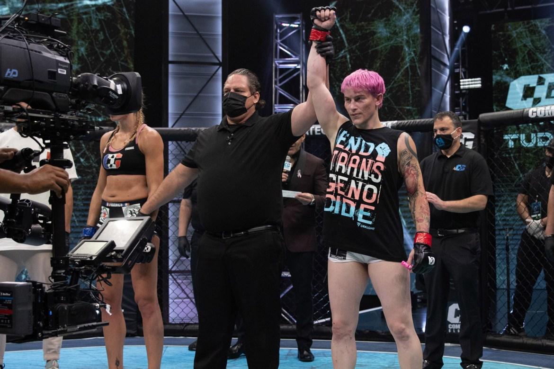 Transgender fighter Alana McLaughlin wins MMA debut