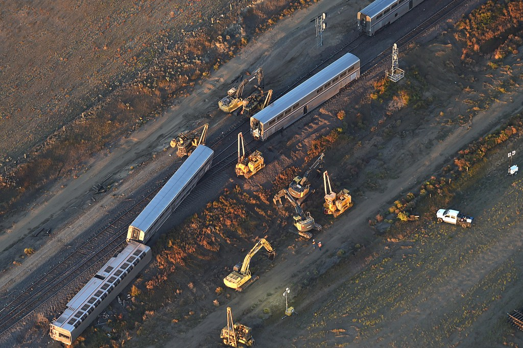 an Amtrak train that derailed in north-central Montana Saturday