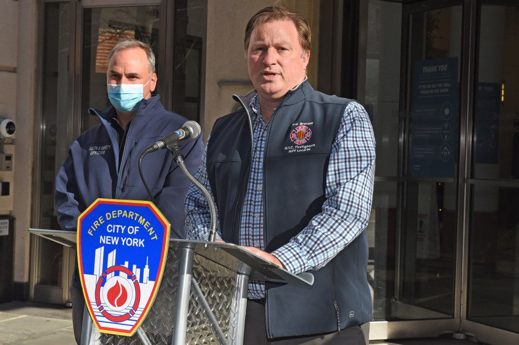 Andy Ansbro (pictured) President of the United Firefighters Association