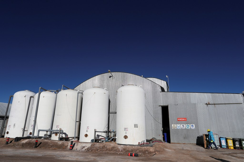 The Rincon Mining lithium pilot plant by the Salar del Rincon salt flat, in Salta, Argentina.