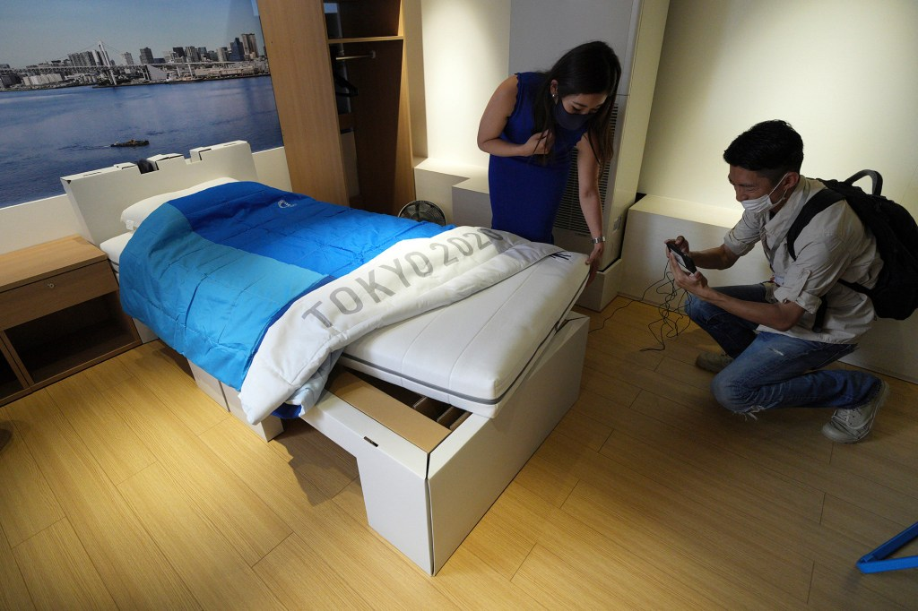 """Despite rumors, the beds are quite sturdy and aren't meant as """"anti-sex"""" tools."""