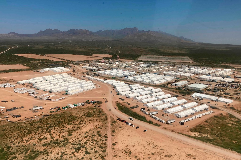 An aerial view of Fort Bliss' Doña Ana Village in New Mexico is seen on Sept. 10, 2021.