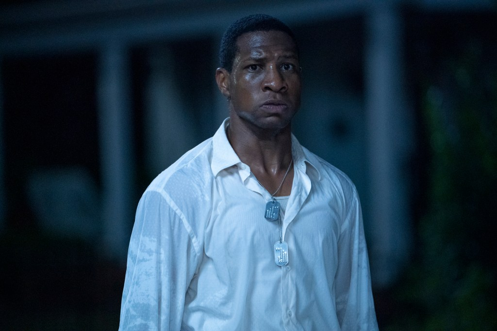 """Jonathan Majors in """"Lovecraft Country."""" Both Williams and Majors are nominated for Emmy awards for their roles in the show."""