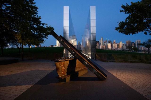 The 9/11 Empty Sky Memorial in Jersey City, New Jersey.
