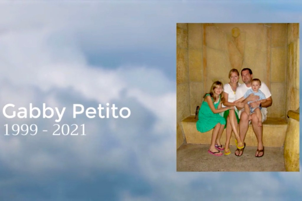 """The video included a slide that said """"Gabby Petito 1999-2021."""""""