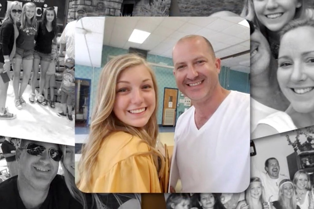 Gabby and her stepfather, Jim Schmidt.