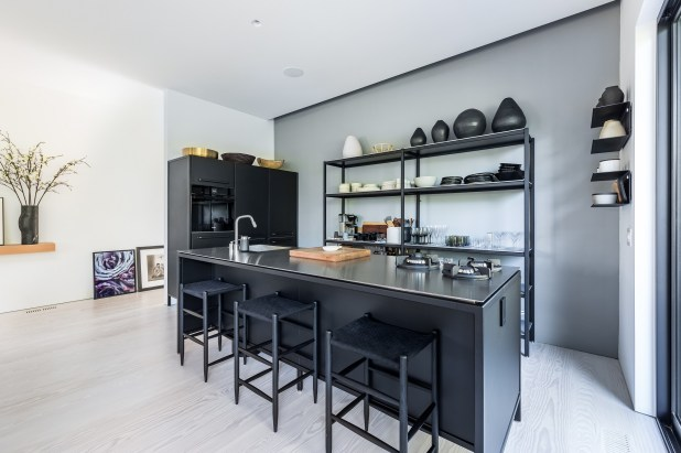 The kitchen inside the home.