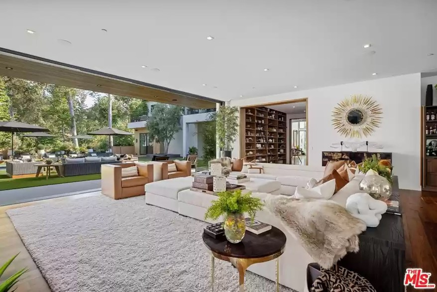 A living room in the LA house is pictured from another angle.