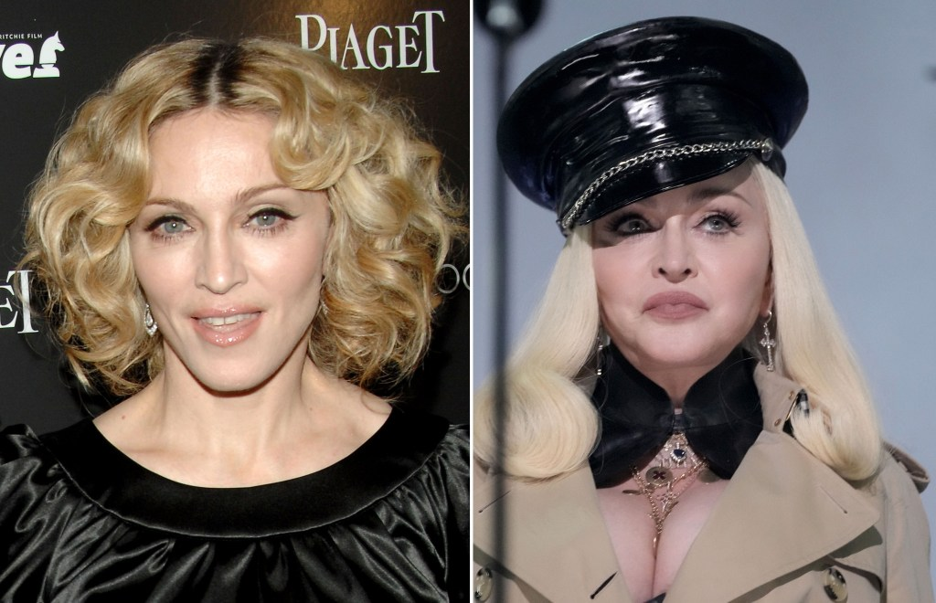 Madonna's face was made of plastic material at the 2021 MTV VMAs on September 12.