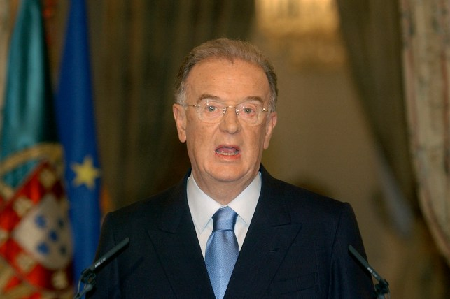 In this July 9, 2004 file photo, Portuguese President Jorge Sampaio is speaking at the Belem Palace in Lisbon, following the announcement that he would appoint a new prime minister from the ruling Social Democratic Party, following the resignation of Jose Drau Barroso. Will say