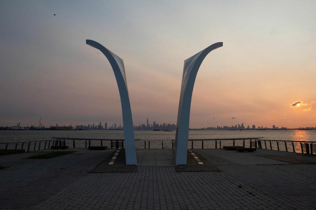 The Postcards 9/11 memorial by New York architect Masayuki Sono in Staten Island.