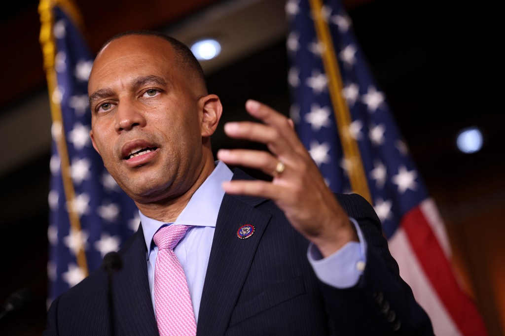 Rep. Hakeem Jeffries spoke out in favor of the Build Back Better Act.