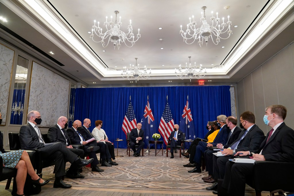 """During the meeting, President Biden called Australia America's """"closest and reliable"""" ally."""