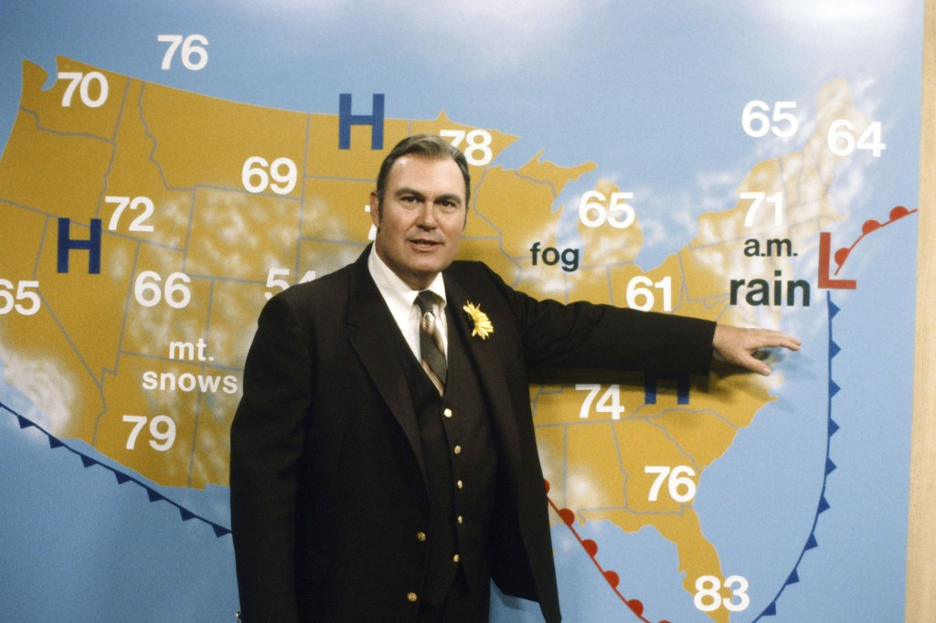 Willard Scott presented the forecast in April, 1980.