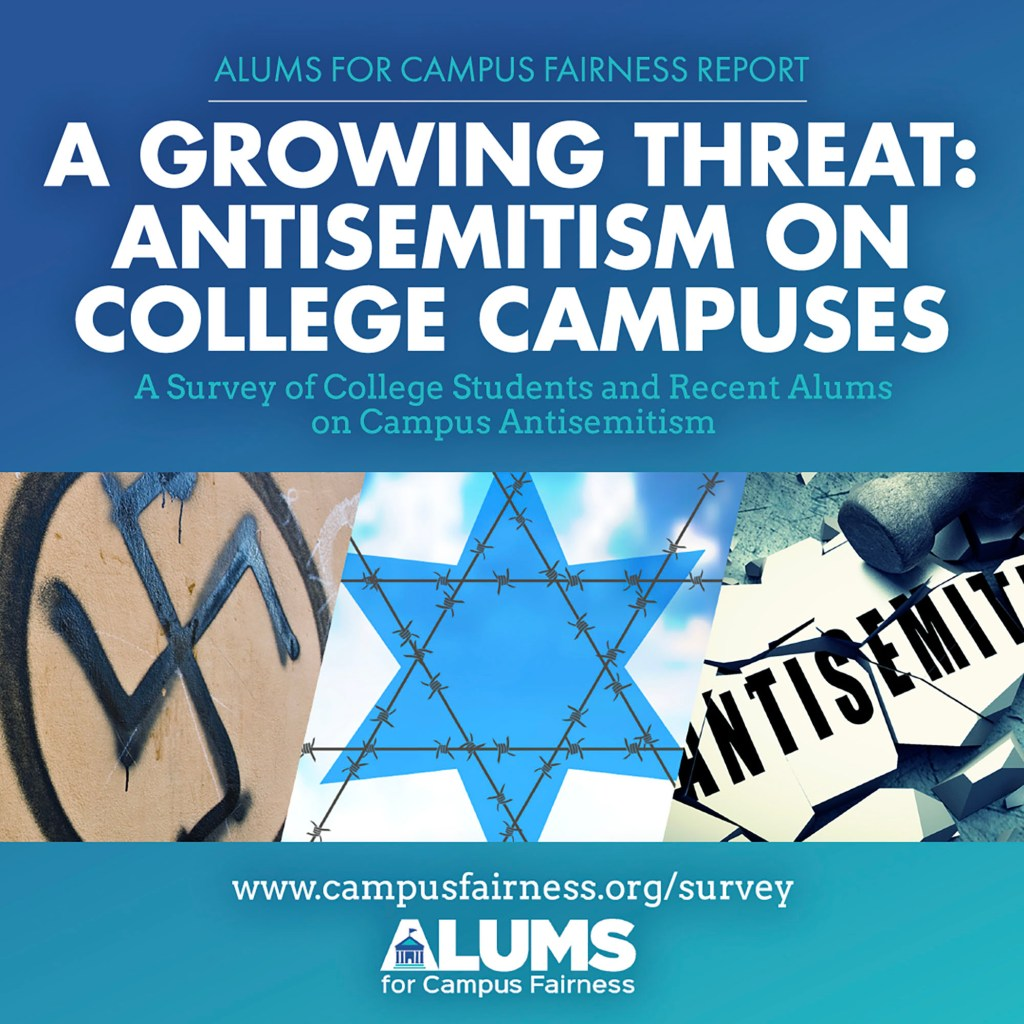 ACF released the results of the survey of Jewish college students and recent alums last week and found 95% of those who participated said antisemitism is an issue.