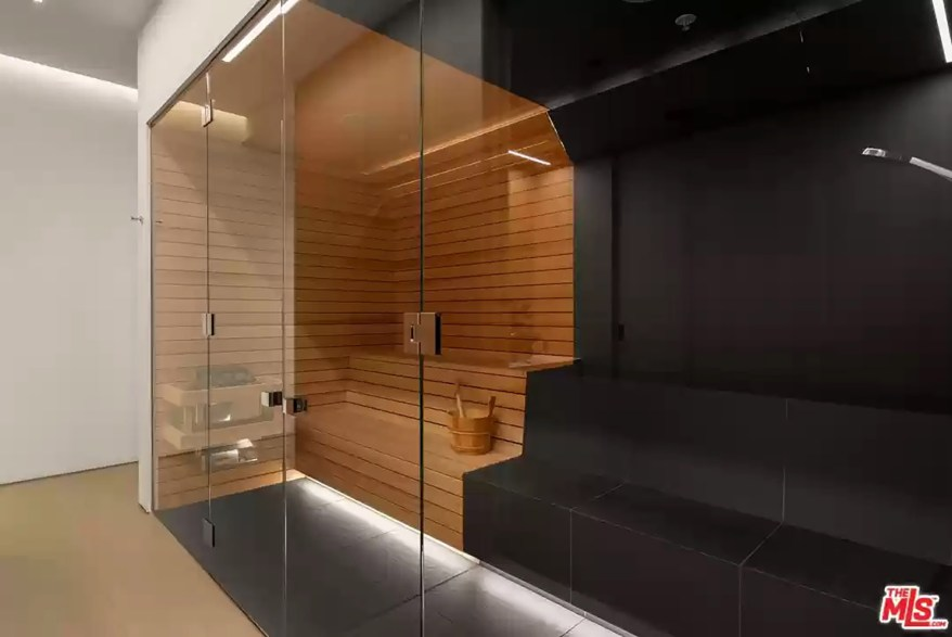 The house is packed with amenities, including a sauna.