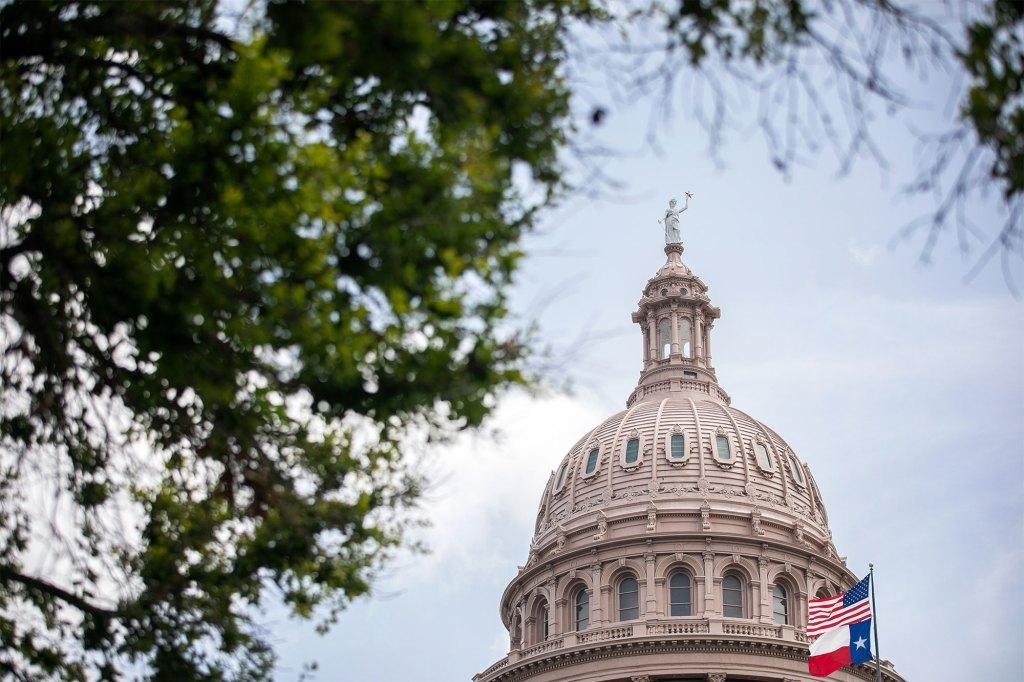 The Texas Capitol in Austin, Texas.
