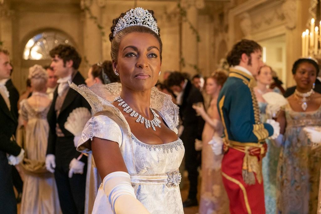 "Adjoa Andoh as Lady Danbury in Netflix's period drama ""Bridgeton."""