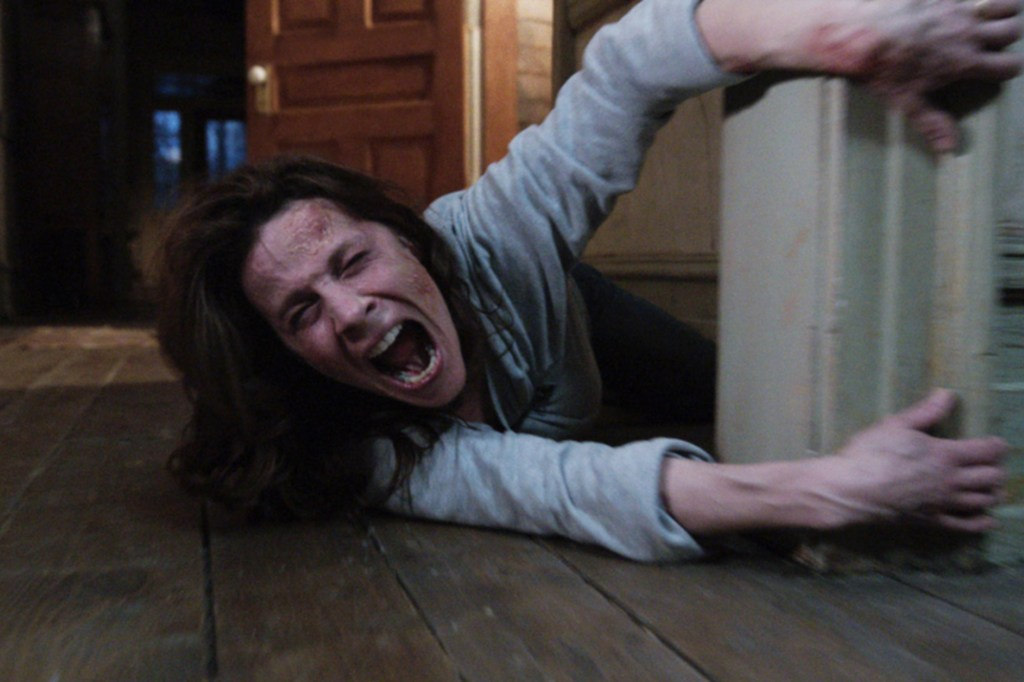 """Lili Taylor in a still from the film """"The Conjuring."""""""