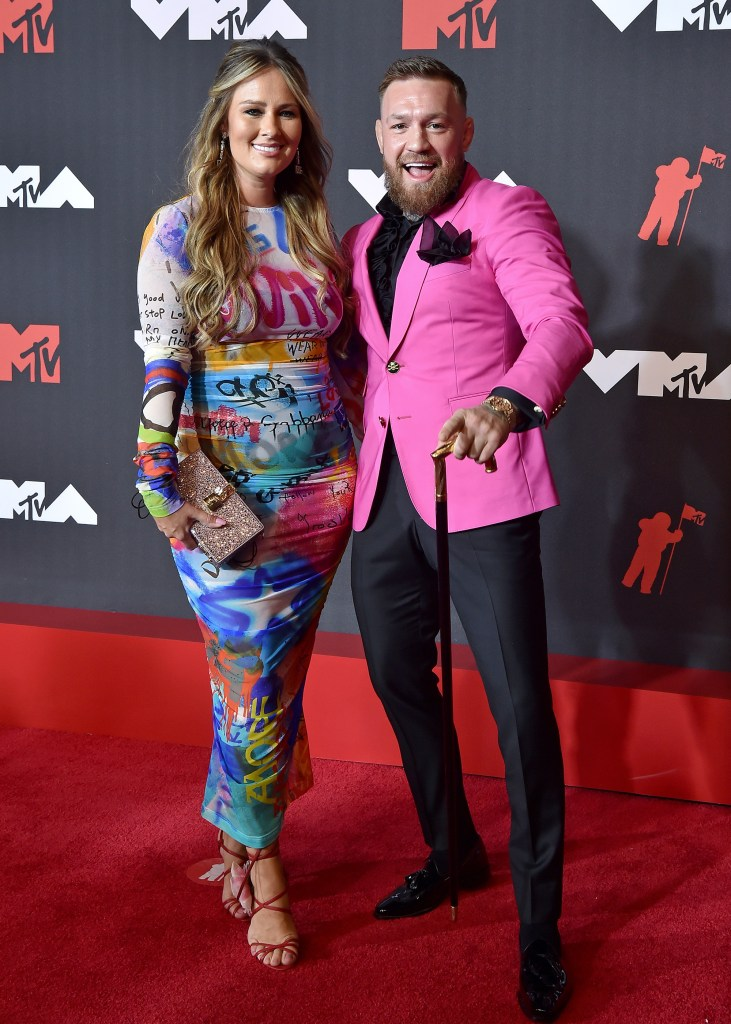 Dee Devlin and Conor McGregor attend the 2021 MTV Video Music Awards at Barclays Center on September 12, 2021 in Brooklyn, New York.