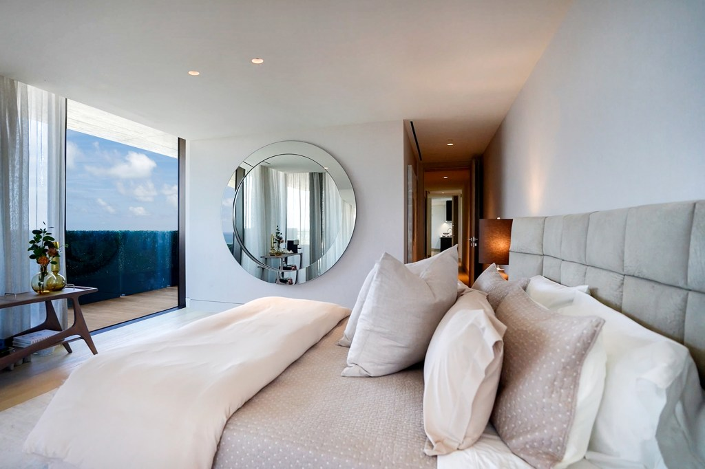 One of four bedrooms with ocean views.