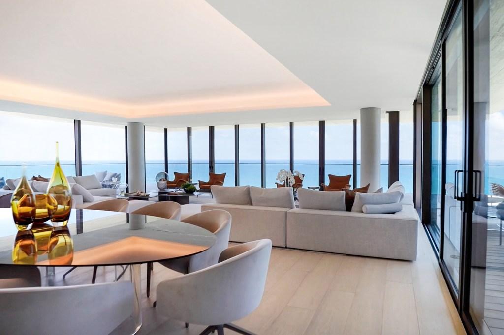 The residence boasts panoramic ocean views.