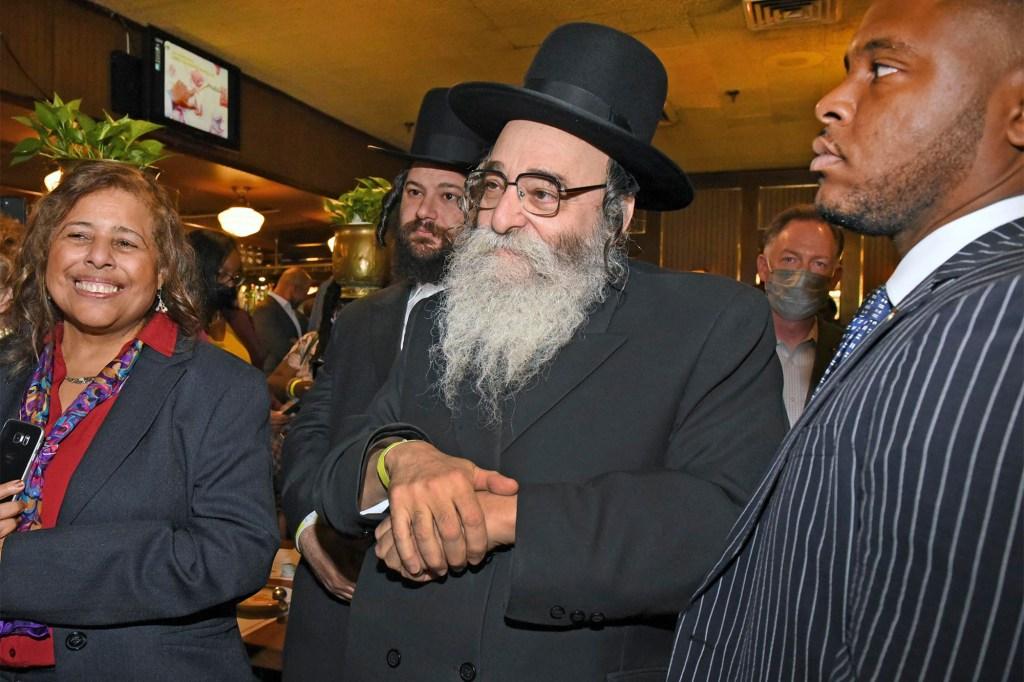 Rabbi David Niederman attending the Democratic fundraiser.