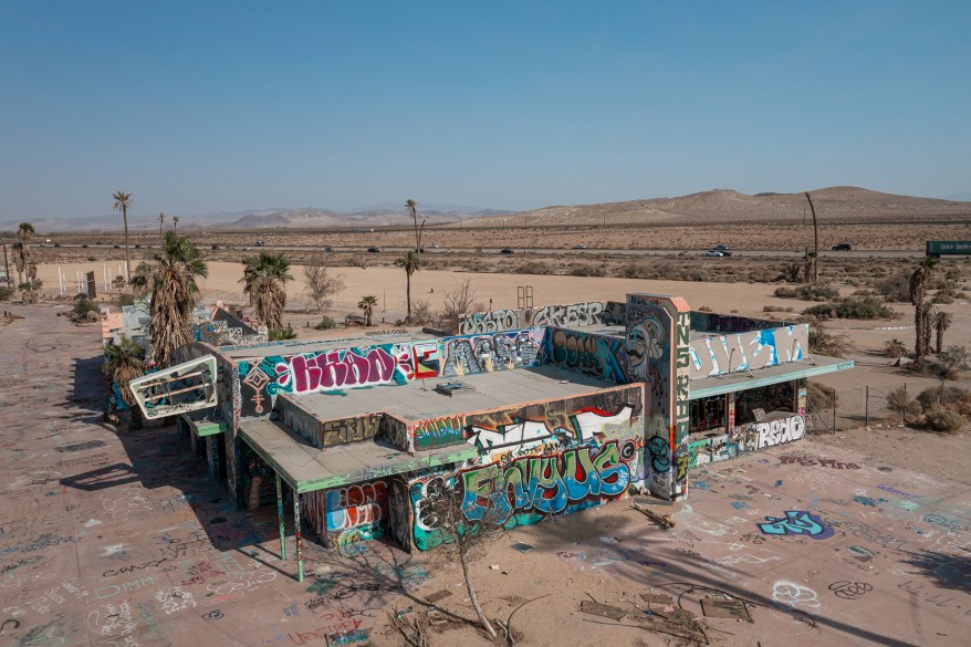 """""""A large waterpark sitting abandoned in the arid Mojave Desert is an incredibly surreal scene,"""" he said."""