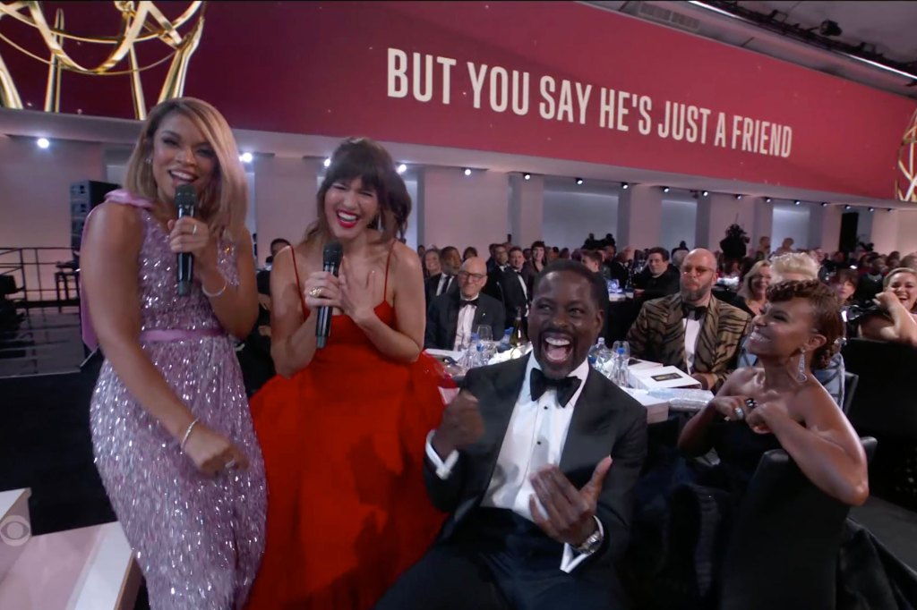 The A-listers in the crowd were dancing to the opening song.