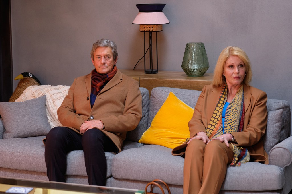 """Nigel Haver and Joanna Lumley as Roger and Sarah in """"Finding Alice."""""""
