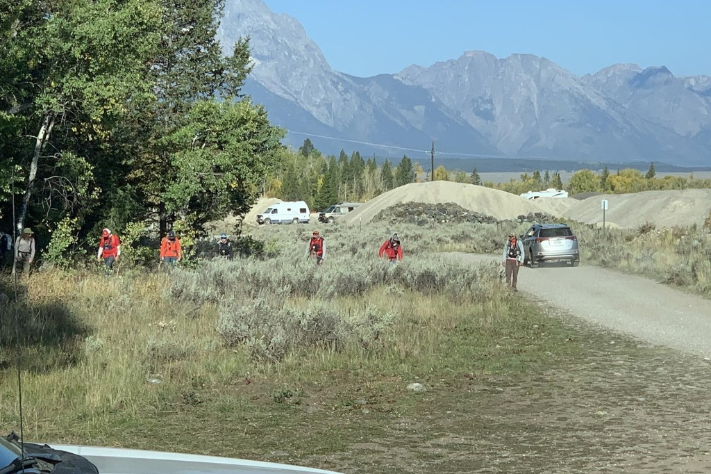 Law enforcement search the Teton National Forest for Gabby Petito on Wednesday, September 18.