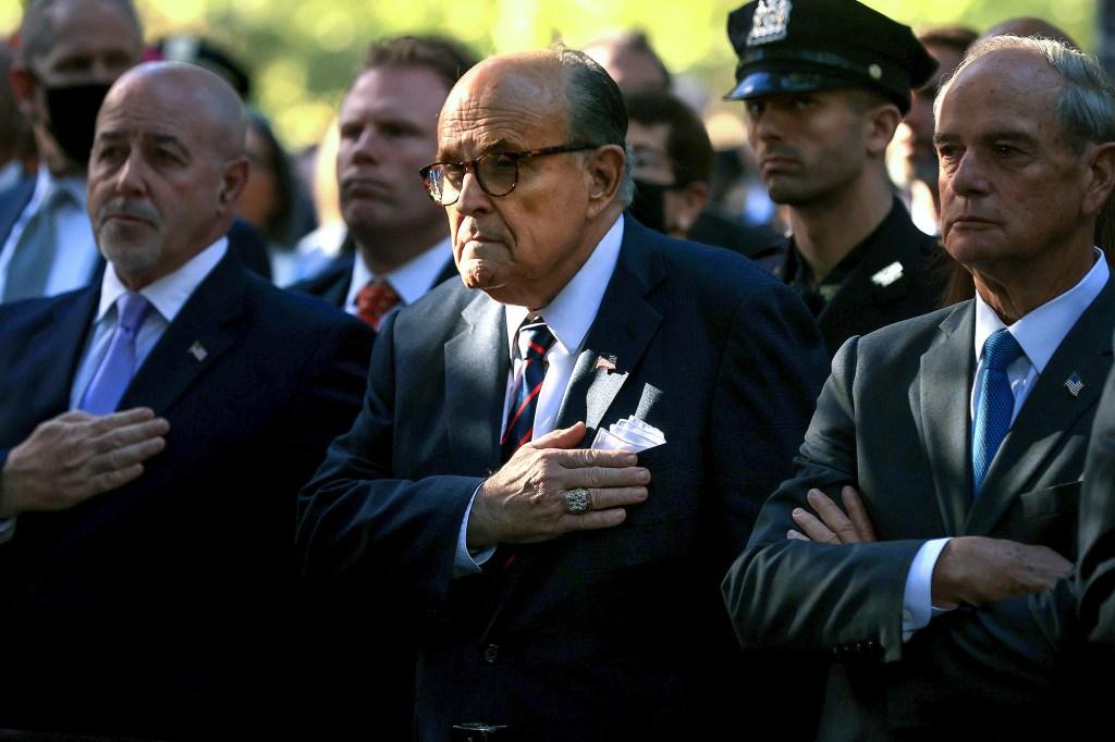 Former New York City Mayor Rudy Giuliani attends the 9/11 Commemoration Ceremony
