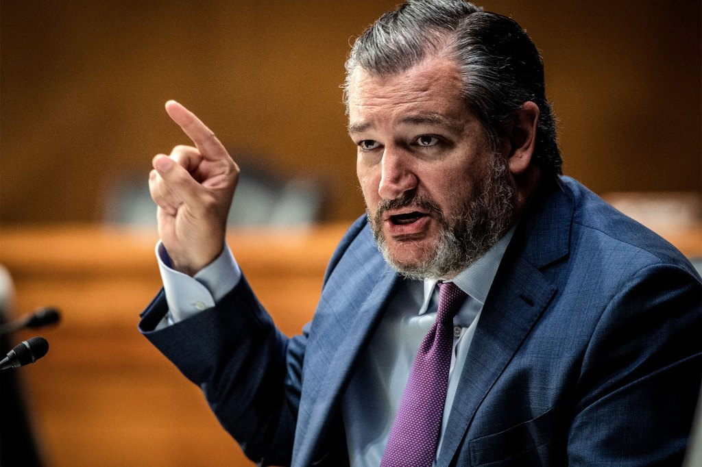 Sen. Ted Cruz (R-TX) questions U.S. Secretary of State Antony Blinken during the Senate Foreign Relations Committee hearing