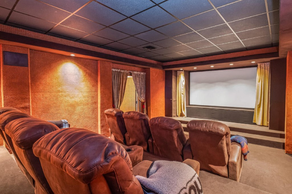 The home's movie theater.