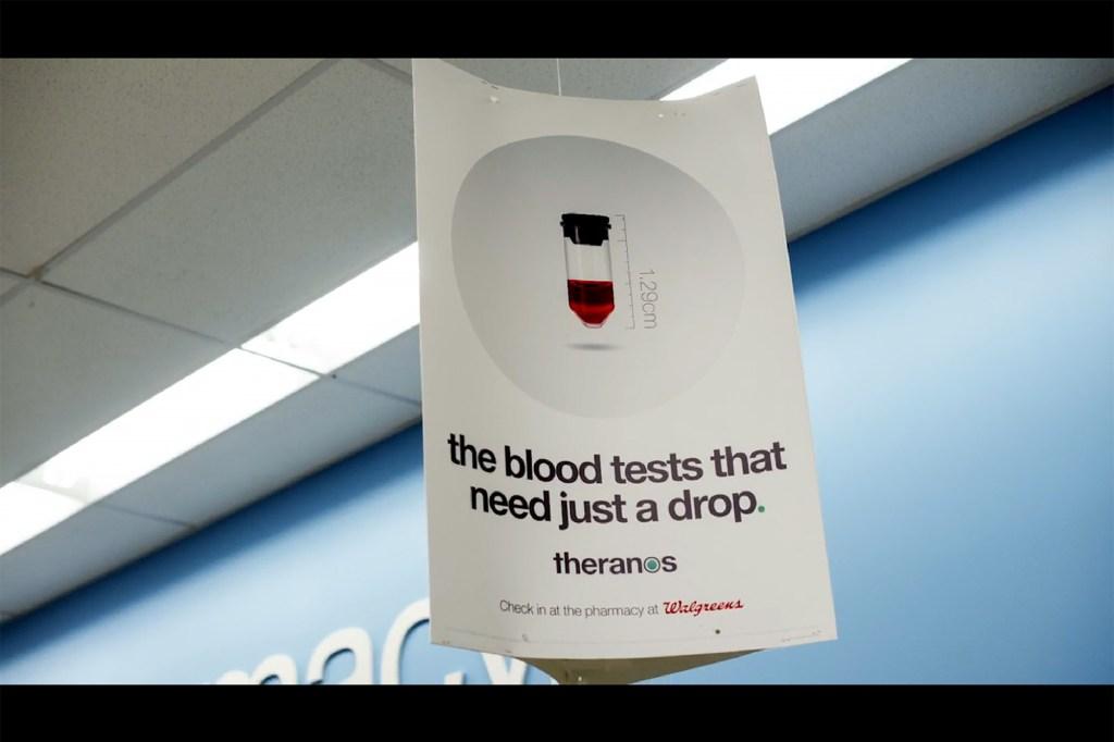 Walgreens sign for blood test