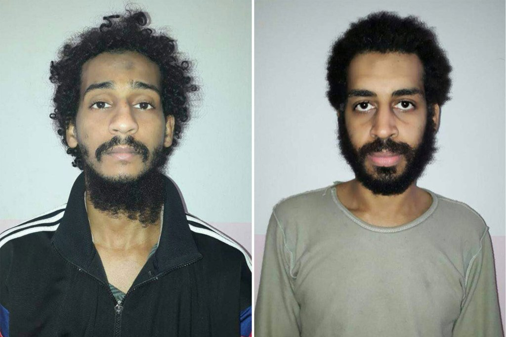 El Shafee Elsheikh (left) is scheduled to stand trial in January after he pled not guilty in 2020.