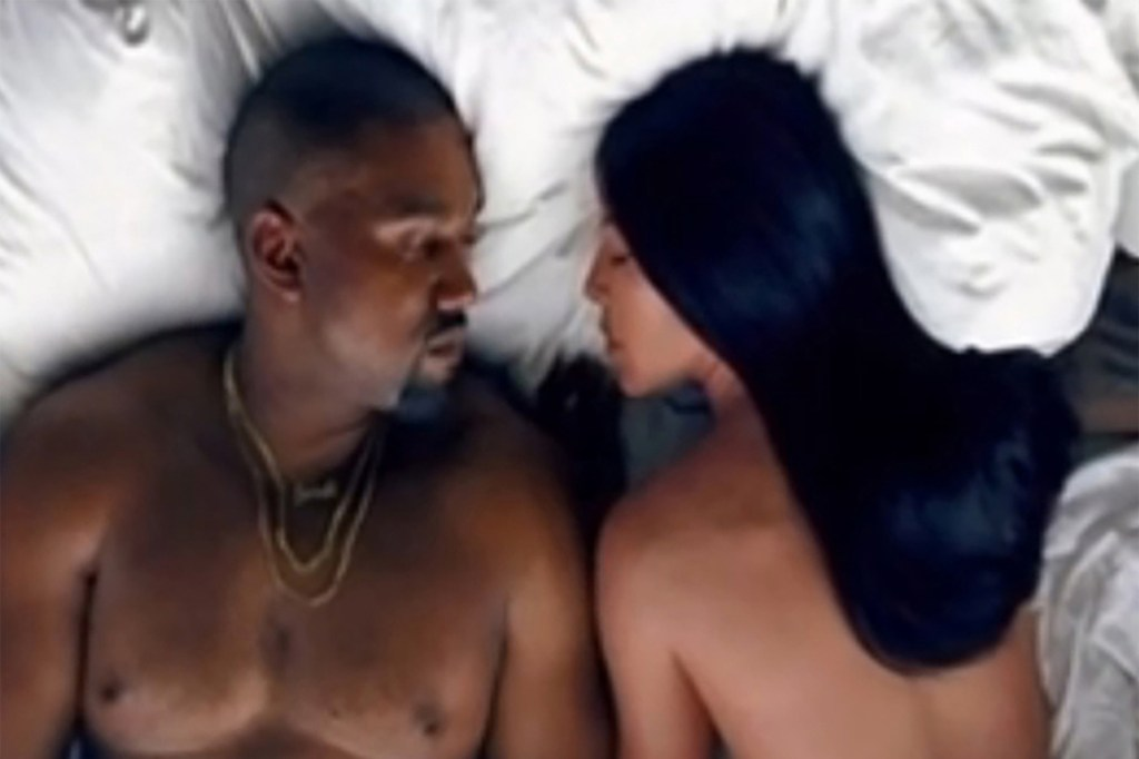 """Still from Kanye West's controversial """"Famous"""" video."""
