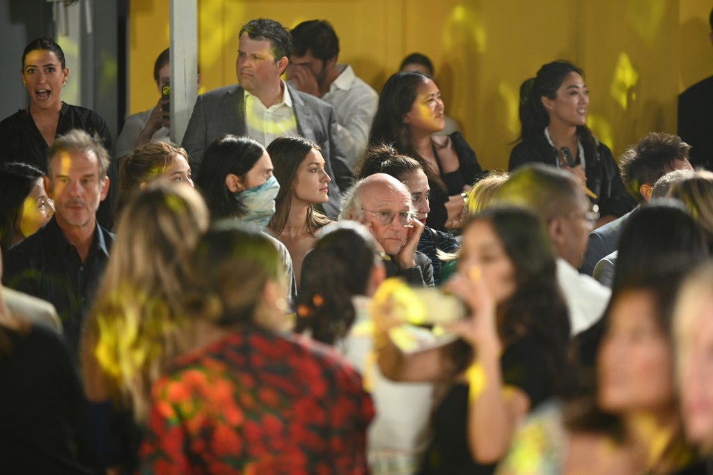 Larry David covering his ears at Fashion Week was anything but a humorous stunt, his daughter Cazzie David said.