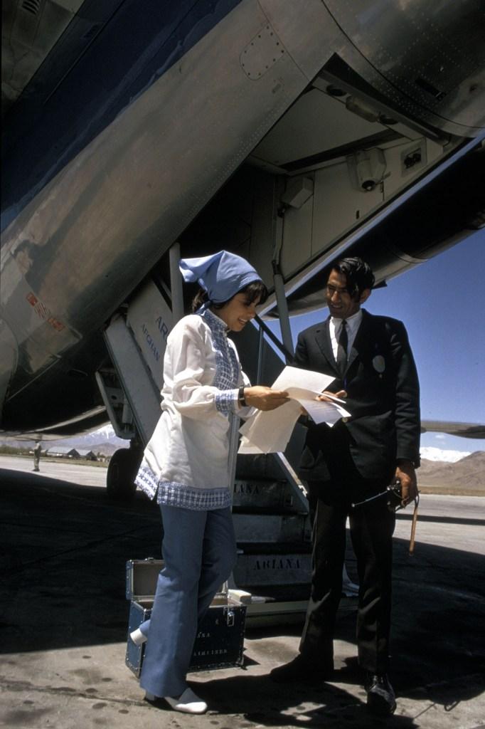 Young Afghan stewardess, Kabul.