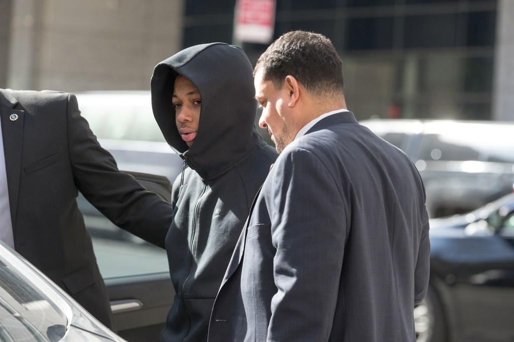 Rashaun Weaver leaving court after arraignment in the Tessa Majors murder case.