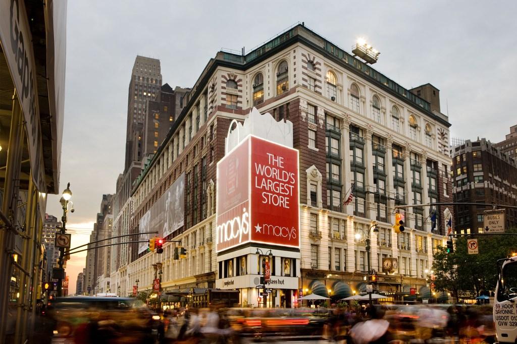 Macy's Herald Square billboard.