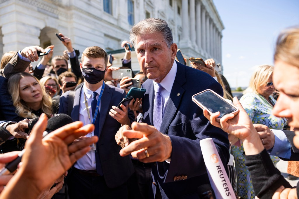 Sen. Joe Manchin reportedly told Senate Majority Leader Chuck Schumer that he will not vote in favor of the budget reconciliation bill with a price tag higher than $1.5 trillion.