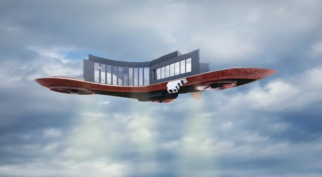 Flying/hover home.