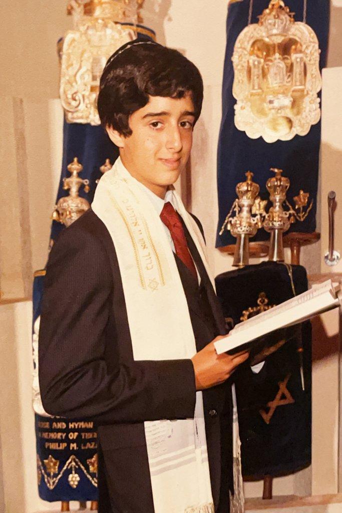Craig Ellenberg at his bar mitzvah in 1982.