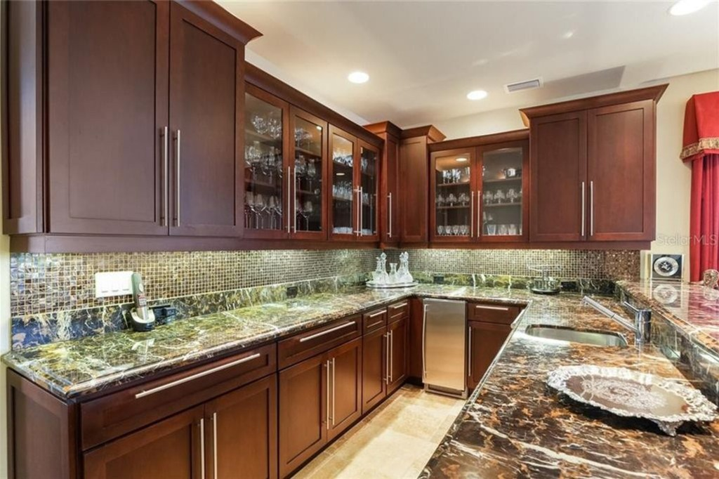 The walk-in pantry.