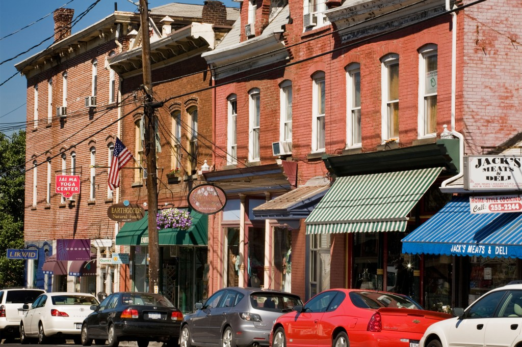 Exterior shot of New Paltz's Main Street business district.