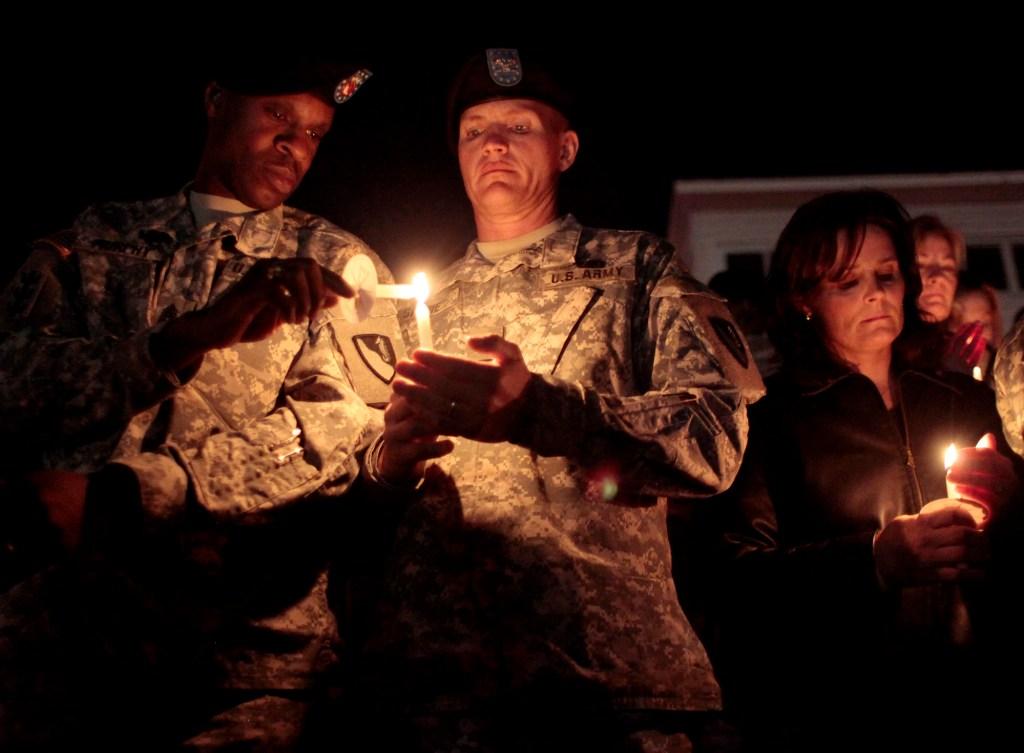 A candlelight vigil held at Fort Hood Stadium, Friday November 6, 2009 in Killean, Texas.