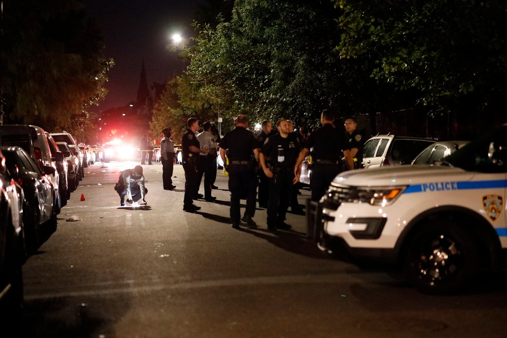 1054 Putnam Avenue in Brooklyn, NY was the location of multiple shootings. PD reported two people shot.