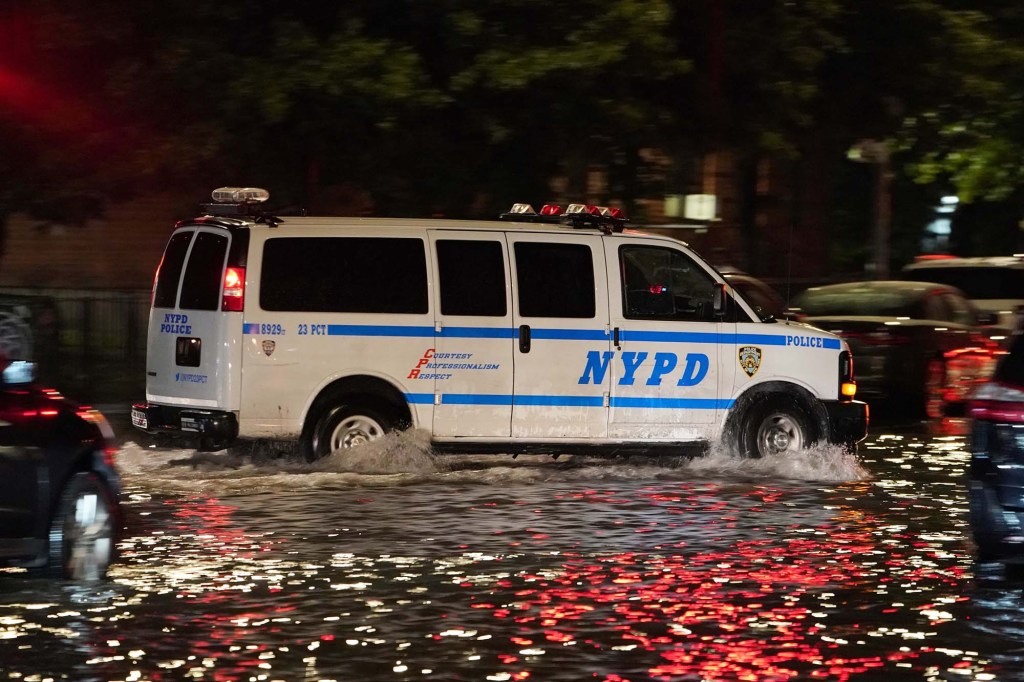 Flooding and damage caused during Tropical Storm Ida as seen in New York, NY on September 2, 2021.