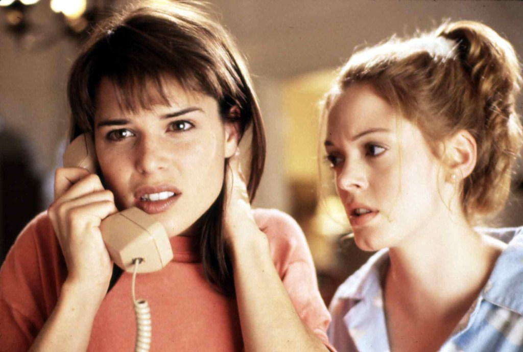 Sidney Prescott, played by Neve Campbell, and Tatum Riley, played by Rose McGowan are pictured in the 1996 movie.